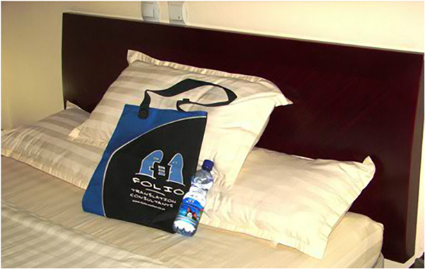 Ever the savvy traveller, Bag takes care to hydrate properly and only drink bottled water ...