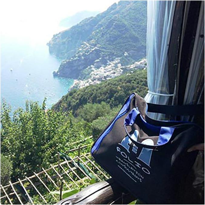 Bag in beautiful Positano, Italy, July 2015.