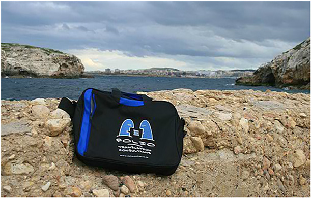 Bag taking a break at St Paul's Bay, Malta,  January 2012.