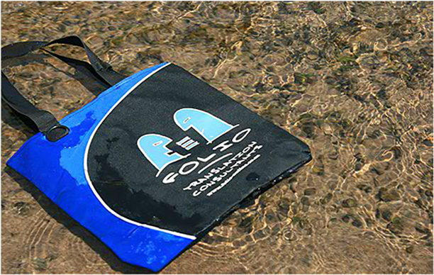 Bag cooling off after a grueling day in the desert. Damaraland, Namibia, September 2012.