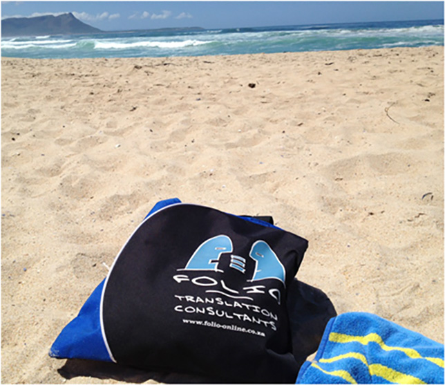 Bag sunning himself on the beach at Kleinmond, December 2012.