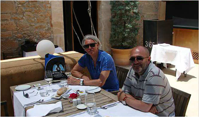 Bag and friends fine-lunching at Son Brull Hotel & Spa.