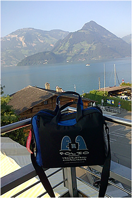 Bag fell in love with beautiful Lake Lucerne, Switzerland,  September 2012.