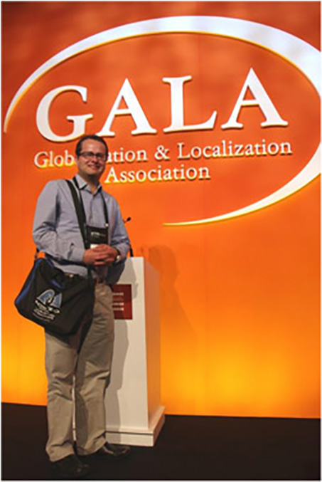 Bag & colleague at the GALA conference, Istanbul, March 2014.