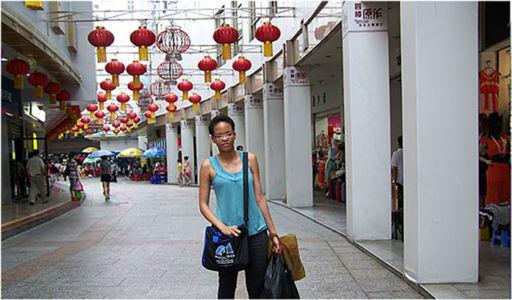 Shopping up a storm on Dongmen Pedestrian Street, Shenzhen, China, June 2012