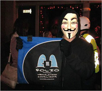 Folio's website was hacked shortly after this photo was taken.