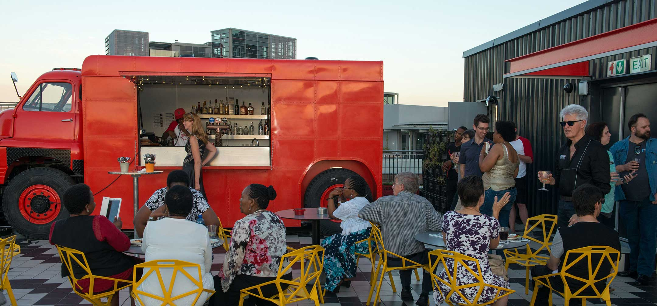 Folio's Year-end Party at the Radisson Red Roof-top Bar, 06.12.2017.
