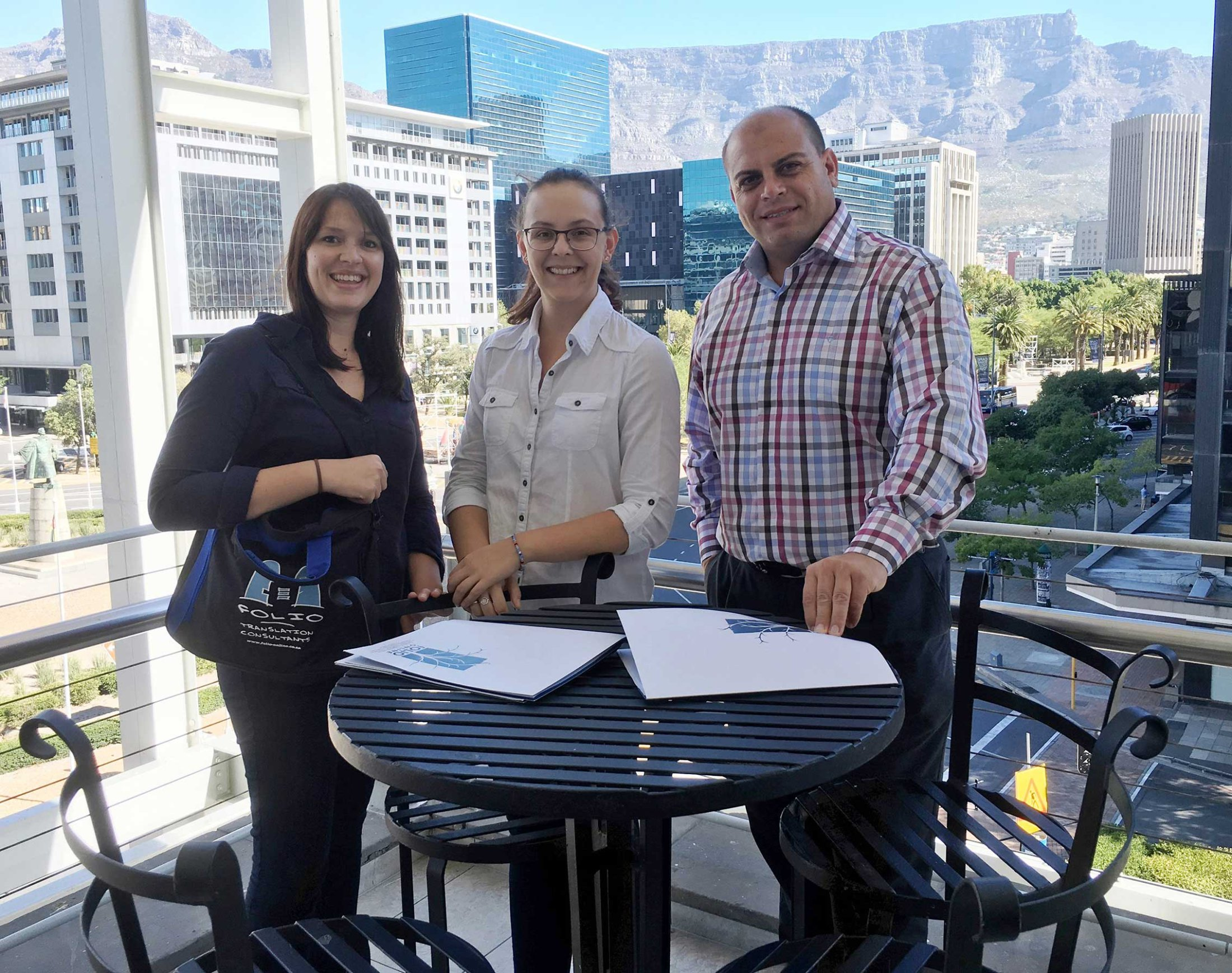 Lauri King, Caro van Aardt & Jacques Fourie, General Manager IVTM at The Cape Town International Convention Centre. 16 March 2016