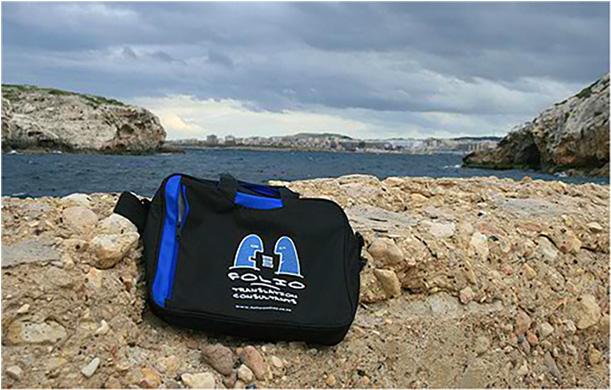 Bag taking a break at St Paul's Bay, Malta,  January 2012.