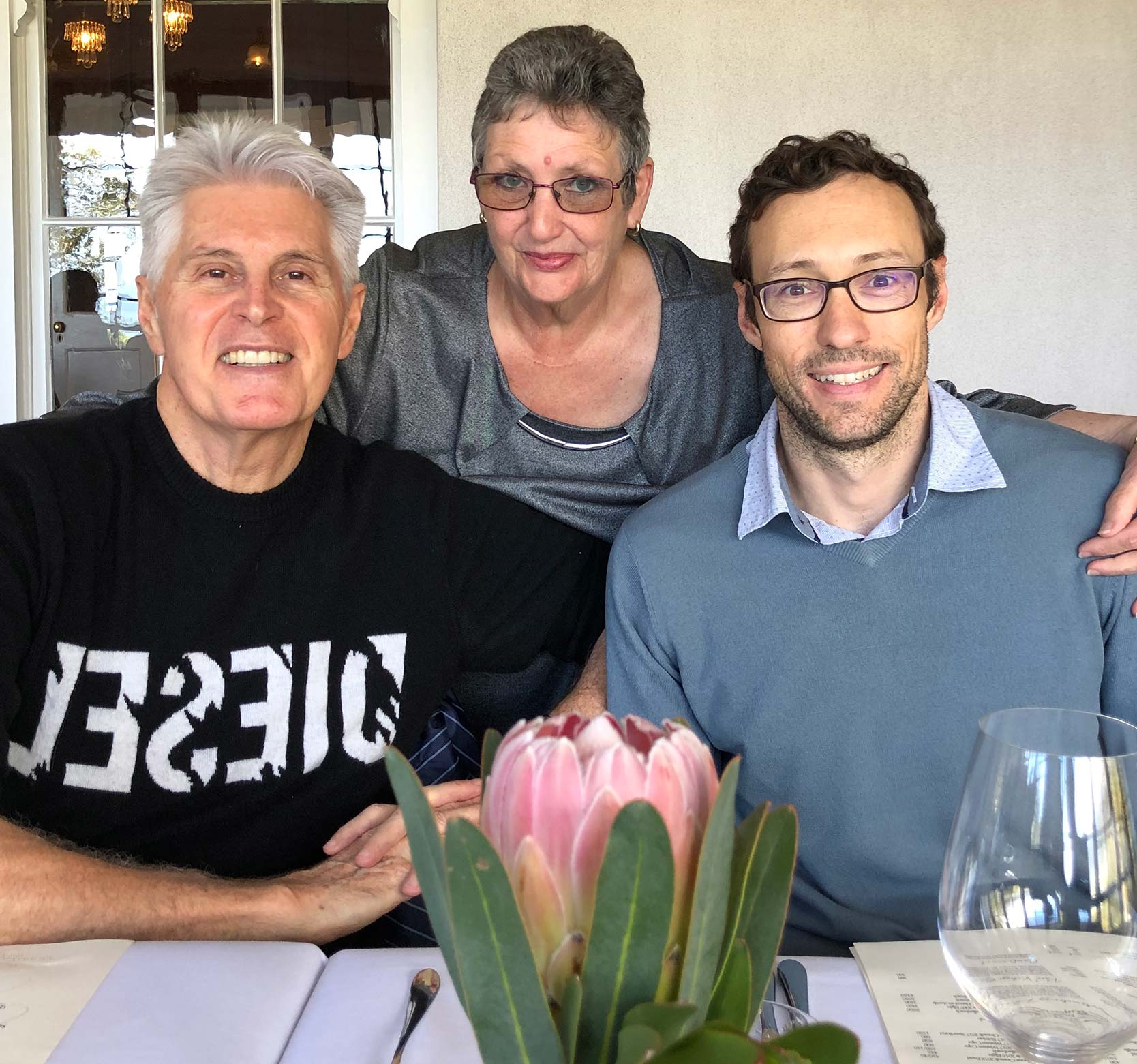 Celebrating Johan's birthday at Salsify in Camps Bay, 21.05.2019.
