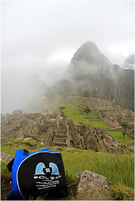 With a billowing fog adding to the mystique of this ancient lost city, Bag imagines what life must have been like for its Incan inhabitants. Where's our intrepid Bag off to next?