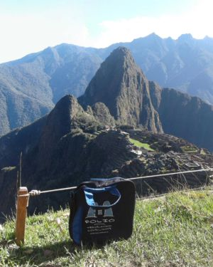 An exhausted bag in Machu Picchu, Peru, after completing The Inca Trail Marathon. June 2017.