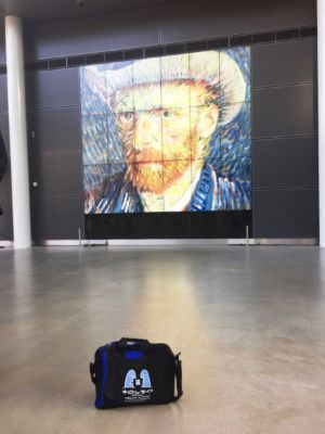 Admiring the master. Bag in the Van Gogh Museum, Amsterdam, March 2017
