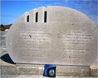 Bag in a solemn mood at the memorial for Swissair flight 111, Nova Scotia, Canada, May 2015.