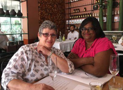 Birthday girl, Monica, & Janet, Hemelhuijs, Cape Town, 27.01-17