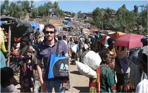 Bag and bodyguard at Lalibela's Saturday market.