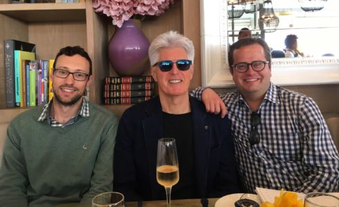 Henk, Philip and Johan. Celebrating Alyssa Eksteen's birthday at Lily's in Mouille Point, Cape Town, 06/10/2017.