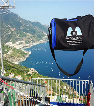 Bag tempting vertigo. Ravello, Italy, July 2015.