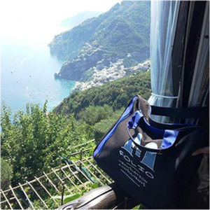 Bag in beautiful Positano, Italy, July 2015.