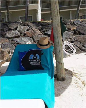 Bag on vacation with  Henk in Mauritius,  September 2014.