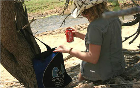 Bag and friend sharing a Coke. Damaraland, Namibia, September 2012.