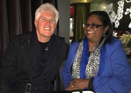 Philip & Janet. Celebrating Philip's birthday at Bizerca, Cape Town, on 12.08.16.