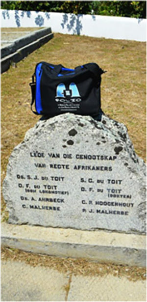 Proud of his roots, Bag visiting the cemetary on Kleinbosch farm, Dal Josafat, Paarl, where some of the founding fathers of the Afrikaans language are buried. 2015.10.16