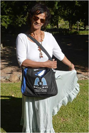 Bag & ardent fan,  Kleine Zalze,  14 March 2014.