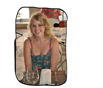 Monica's birthday lunch at Bizerca, Cape Town CBD, 27 January 2012.Anja awaiting her first drink as a Folio staff member.
