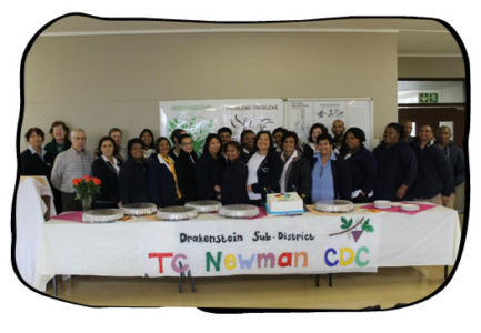 The winning team at TC Newman CDC in Paarl.
