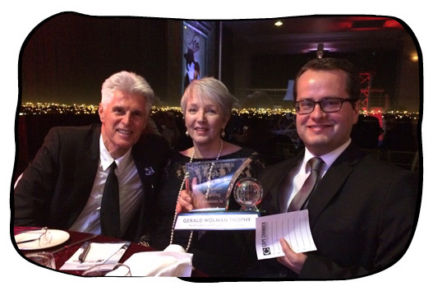 Philip, Marilyn Cilliers, Johan & the trophy.