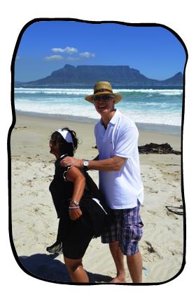 Anne & Philip doing the strandlopervastrap. 12 February 2014.