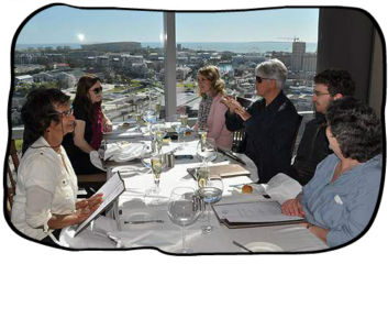 2012.08.13Anja, Philip, Simon & Monica, Westin Executive Club, Cape Town.