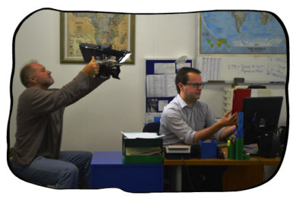 Cameraman Hannes Thiart and Johan.
