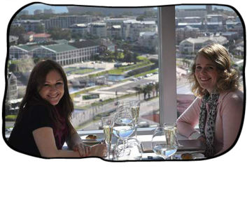 2012.08.13Marli, Anja & enough sparkling wine, Westin Executive Club, Cape Town.