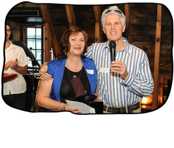 Mariaan Vorster, winner of the third annual Folio Green Award, with Philip at Folio's year-end party.