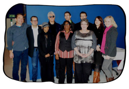 The Folio team celebrating Philip's birthday at Thornton White Restaurant. 13.08.14
