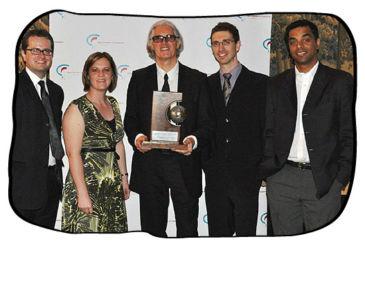 Johan, Philip, Simon and Paul with Karen Wallace of Credit Guarantee.