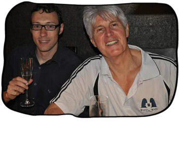 2012 12 14 Henk & Philip enjoying Henk's birthday lunch at Haiku, Cape Town.