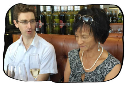 Monica's birthday lunch at The Butcher Shop & Grill, Mouillepoint, Cape Town, 30 January 2015.