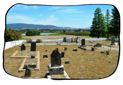 The beautiful view from the historical cemetary on Kleinbosch farm, Dal Josafat, Paarl. 2015.10.16