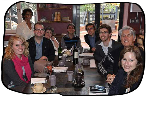 The Folio team (sans Paul) after lunch at The Pot Luck Club & Gallery, Woodstock, Cape Town, 25 May 2012.
