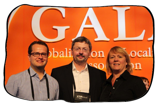 Johan, Jiri and Sharon after the panel discussion on the translation industry in Africa. March 2014.