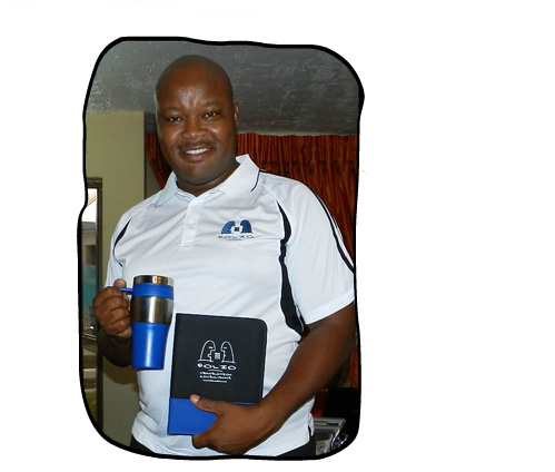 Siphumelele Twala sporting the prizes he won as runner-up in the third annual Folio Green Award, December 2012.