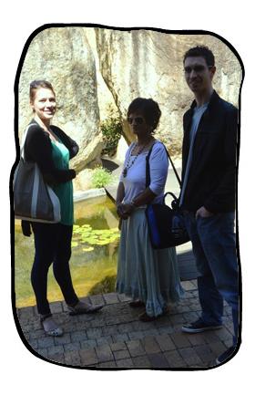 Lauri, Anne, Bag & Simon. Ernie Els Wines, 14 March 2014.