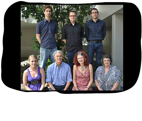 Comari Lategan, winner of the 2011 Folio Merit Prize, with members of the Folio team. The Folio Prize is awarded annually to the best student in the Postgraduate Diploma in Translation at the University of Stellenbosch.