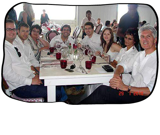Monica's birthday lunch at the Grand Café & Beach, Granger Bay, on 29 January 2010.