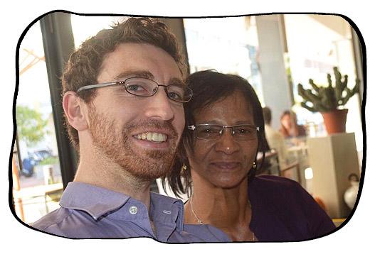 Johan's Bi hday Lunch at Hemelhuijs, Cape Town, 21/05/2013. Simon and Anne.