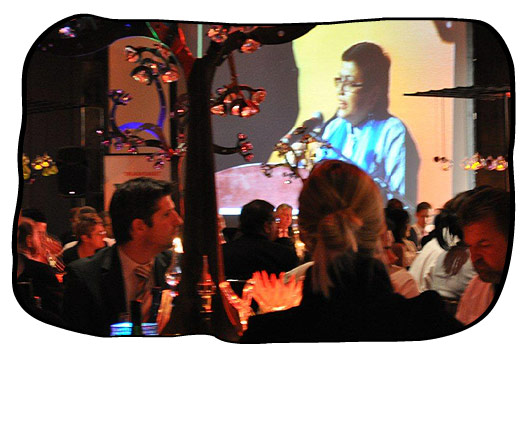 Emcee Arifa Parker, of the Cape Chamber, addressing finalists and guests at the Gala Dinner.