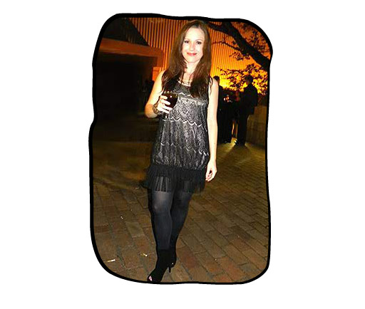 Folio staff member, Marli Viljoen, strutting her stuff at the 16th annual South African Music Awards, Sun City, April 2010. Marli's fiancé, Willim Welsyn, was nominated in the category Best Afrikaans Alternative Album.